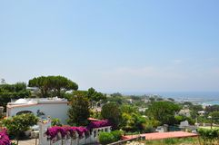 villa on the sea island Italy royalty free stock images