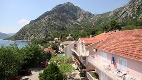 Villa by the sea. Montenegro, Kotor Bay, Adriatic. Sea stock footage