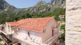 Villa by the sea. Montenegro, Kotor Bay, Adriatic. Sea stock video footage