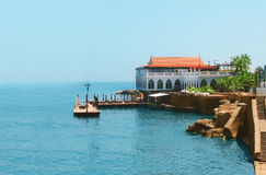 Villa on seacoast in Lebanon Royalty Free Stock Images