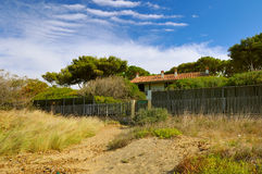 Villa on the seaside of toscana Royalty Free Stock Images