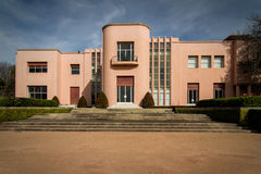 Villa Serralves. View on the Villa Serralves and part of its gardens in Porto, Portugal stock photography