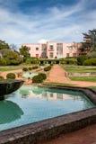 Villa Serralves. View on the Villa Serralves and part of its gardens in Porto, Portugal stock image