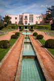 Villa Serralves. View on the Villa Serralves and part of its gardens in Porto, Portugal royalty free stock image