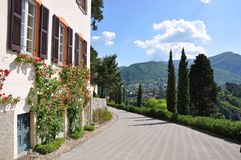 Villa Servelloni at the famous Italian lake Como Royalty Free Stock Photo