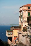 Villa in Sorrento. An Italian style villa in Sorrento, with terrace facing the sea Stock Images