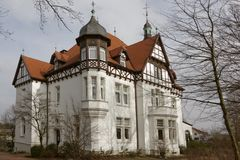 Villa Stahmer, built in 1900 in the half-timbering style serves the city of Georgsmarienhuette as a museum today, Germany Stock Photos