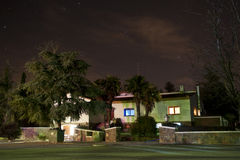 Villa with stars Royalty Free Stock Images