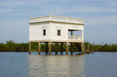 Villa on Stilts, Tonle Sap lake, Cambodia Royalty Free Stock Photos