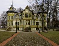 Villa storica da Lodz fotografia stock libera da diritti