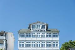 Villa storica nella vecchia città di Sassnitz sull'isola del ¼ g di RÃ fotografie stock libere da diritti