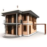 Villa Style Building Royalty Free Stock Photography