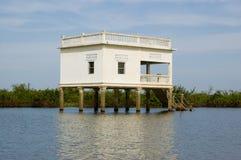 Villa sugli Stilts, lago sap di Tonle, Cambogia Fotografie Stock Libere da Diritti