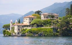 Villa sul lago Como Immagini Stock Libere da Diritti