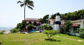 Villa sur la plage dans Mtwapa Mombasa au Kenya images stock