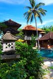 Villa with swimming pool. In Bali Royalty Free Stock Photo