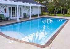 Villa swimming pool Royalty Free Stock Photo
