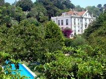 Villa with swimming pool Stock Photos