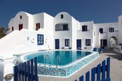 Villa and swimming-pool Royalty Free Stock Image