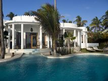 Villa with swimming pool royalty free stock images