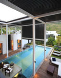 The villa with a swimming pool. Sanya China villa with swimming pool stock photography