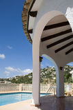 Villa, swimming pool in Spain Stock Photos