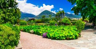 Villa Taranto met mooie tuinen Lago Maggiore Royalty-vrije Stock Afbeelding