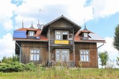 Villa of Teofil Sanok in the tourist settlement Czorsztyn, Poland Stock Photos
