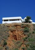 Villa on the top cliff. A villa built on the top of a cliff royalty free stock photo