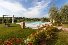 Villa in Toscana fotografie stock libere da diritti