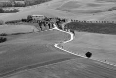 Villa toscana, Italia fotografie stock