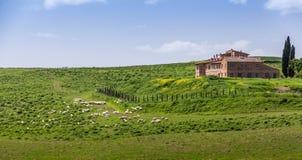 Villa toscane de ferme photographie stock
