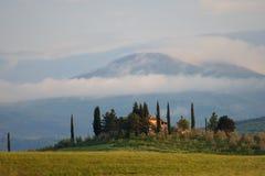 Villa in Toscanië royalty-vrije stock afbeelding