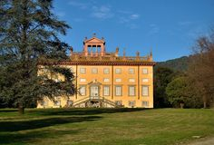 villa toskanii fotografia stock