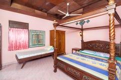Villa traditionnelle et antique de chambre à coucher dans Bali Photos libres de droits