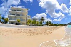 Villa on a Tropical Caribbean Island royalty free stock image