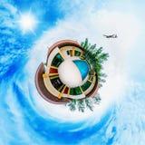 Villa tropicale con la piscina Fotografie Stock