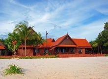 Villa tropicale della spiaggia Fotografia Stock Libera da Diritti