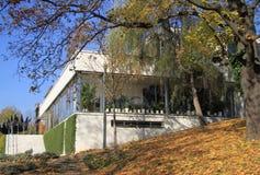 Villa Tugendhat, la costruzione storica a Brno Fotografia Stock