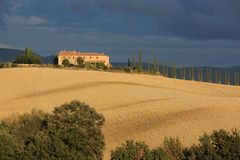 Villa in Tuscany countryside Stock Photos