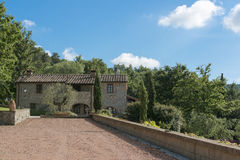 Villa in Tuscan style. House in typical Tuscan style Royalty Free Stock Image