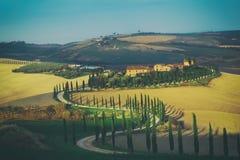 Villa in Tuscany Stock Photography