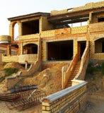 Villa under construction. New modern villa under construction Royalty Free Stock Images