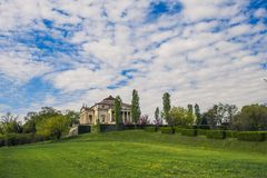 Villa by venetian architect Andrea Palladio called Villa la Rotonda royalty free stock photography