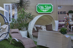 Villa Verde outdoor furniture company booth Royalty Free Stock Images