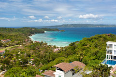 Villa from view point. Boracay, Philippines Stock Photos