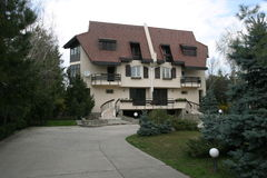 Villa. A view of a rich man villa royalty free stock photography