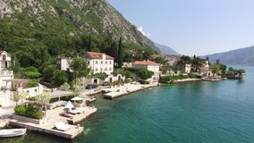 The villa is in the village of Ljuta. Montenegro, Kotor Bay, Adr stock footage