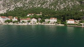 The villa is in the village of Ljuta. Montenegro, Kotor Bay, Adr stock video footage