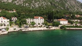 The villa is in the village of Ljuta. Montenegro, Kotor Bay, Adr stock video